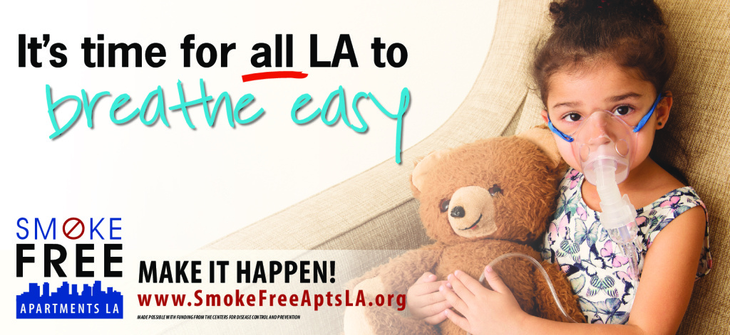 An ad for the Smokefree Apartments Los Angeles campaign.
