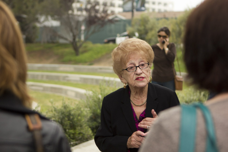 A new installation at the Los Angeles Museum of the Holocaust features videos of sit-down interviews with survivors.