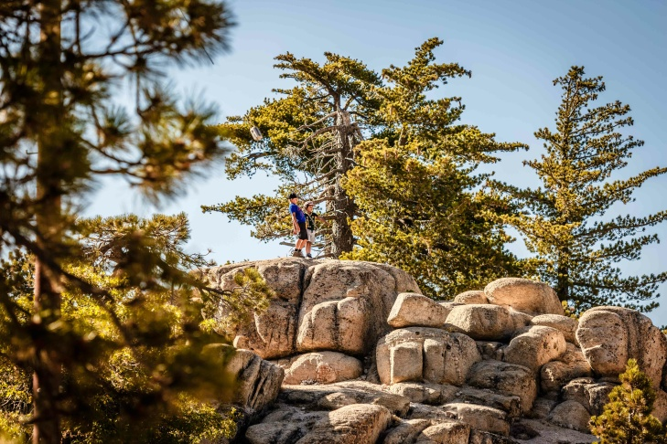 A bounty of boulders along the Exploration Trail form a never-ending playground.