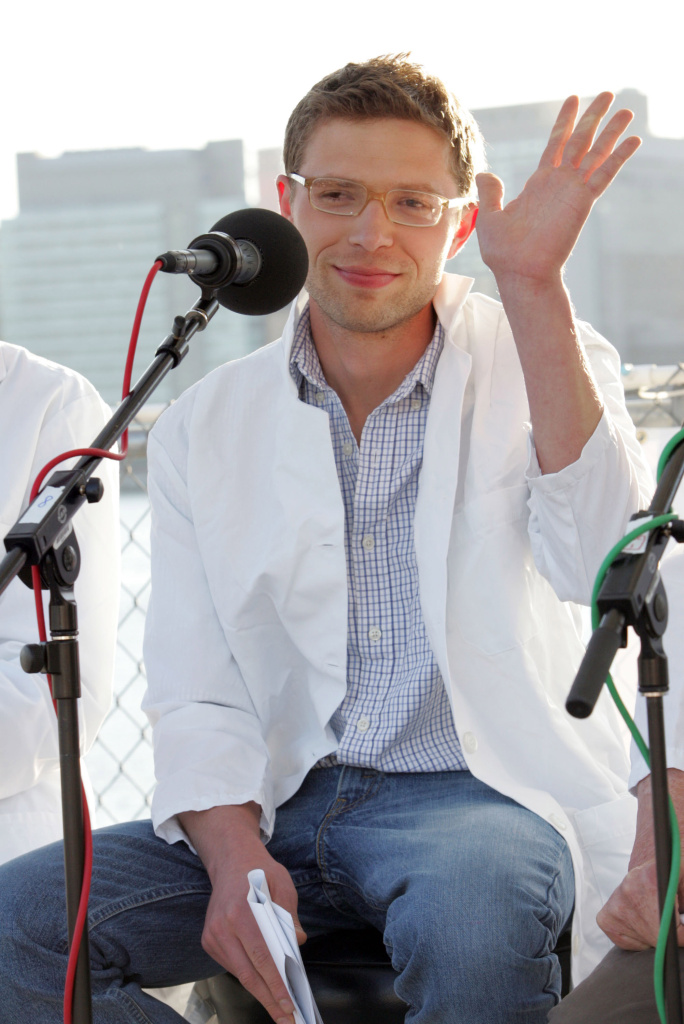 Science writer and contributer to Radio Lab, Jonah Lehrer attends the