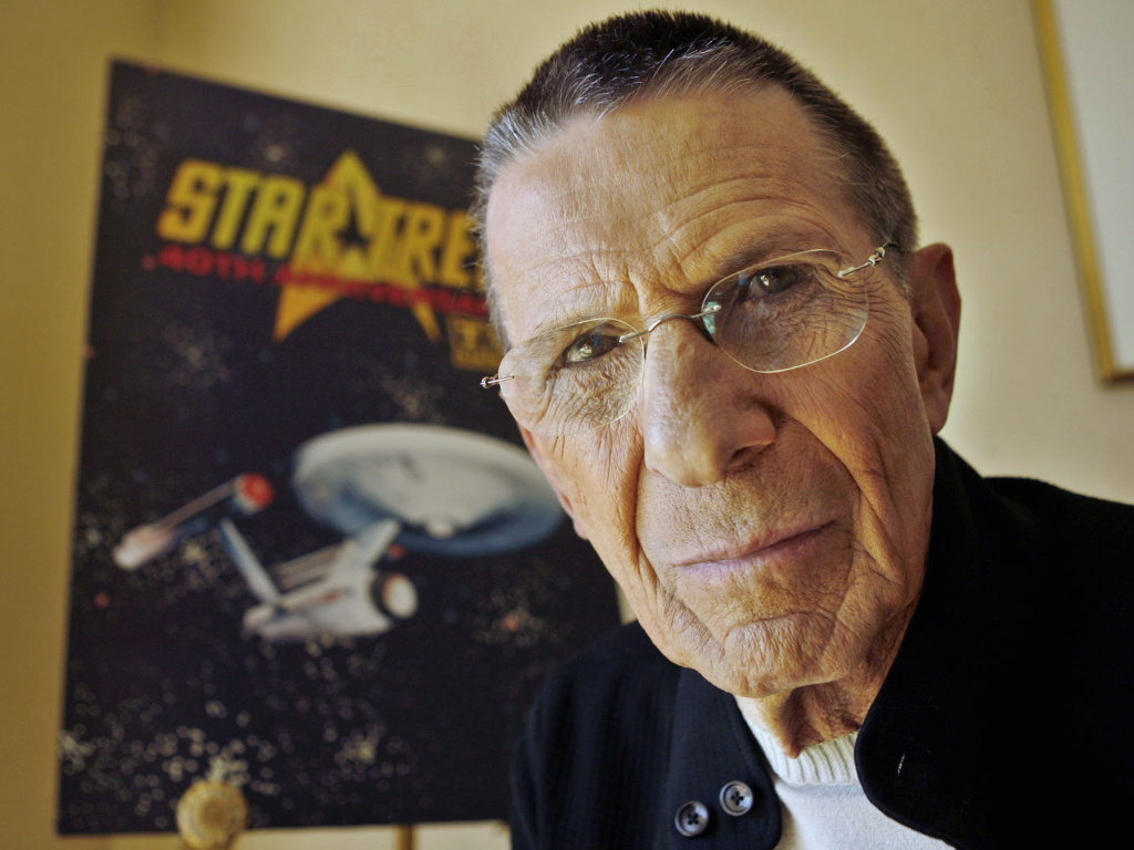"File: In this Aug. 9, 2006 file photo, actor Leonard Nimoy poses for a photograph in Los Angeles. Nimoy, famous for playing officer Mr. Spock in ""Star Trek"" died Friday, Feb. 27, 2015 in Los Angeles of end-stage chronic obstructive pulmonary disease. He was 83."