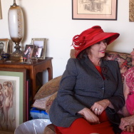 Patt Morrison (left), with actress Patricia Morison at Ms. Morison's apartment in Park La Brea.