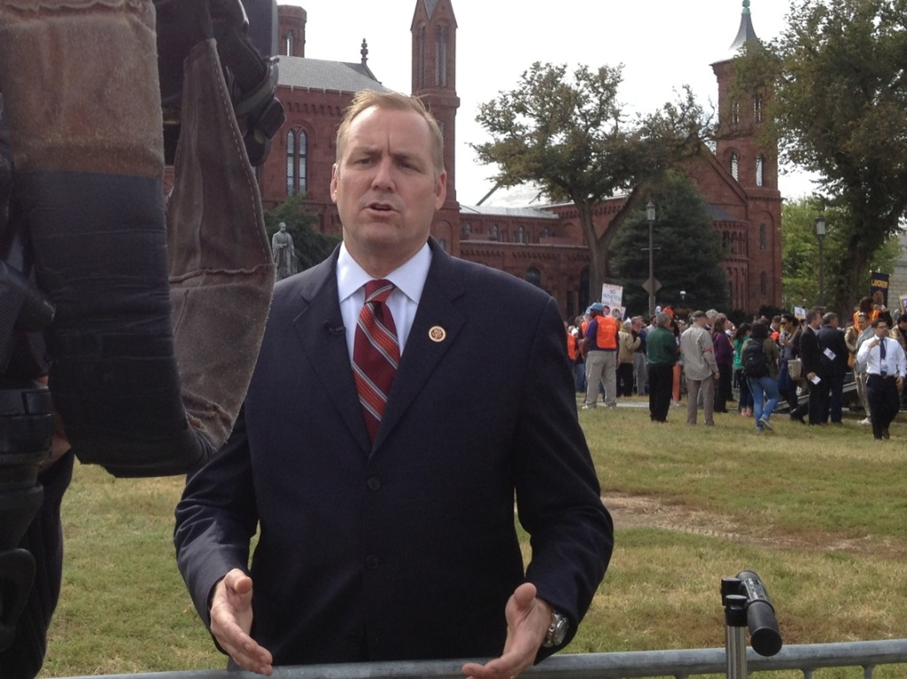 Republican Rep. Jeff Denham attended the immigration rally at the National Mall last fall