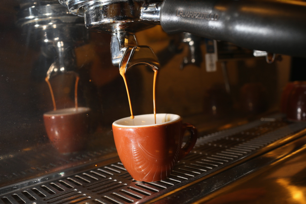 An espresso coffee is seen at Eternity Coffee Roasters during National Coffee Day on September 29, 2014 in Miami, Florida.