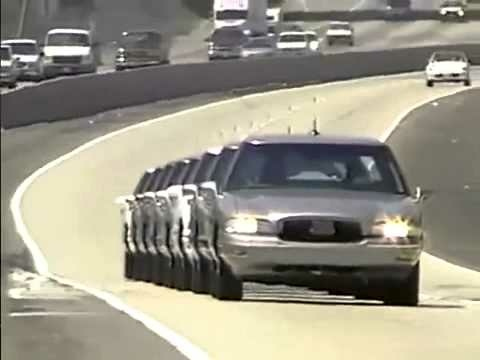 Demo 97 was a Congressionally mandated demonstration of self-driving cars that took place on Interstate 15 during 1997.