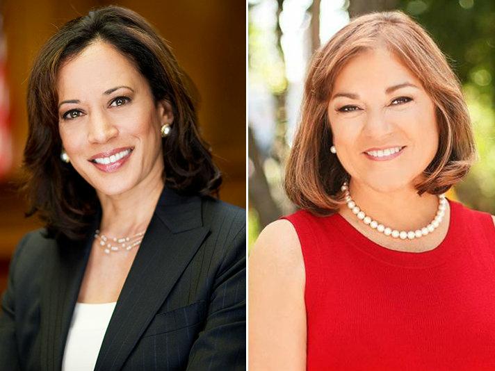 California Attorney General Kamala Harris and Rep. Loretta Sanchez.