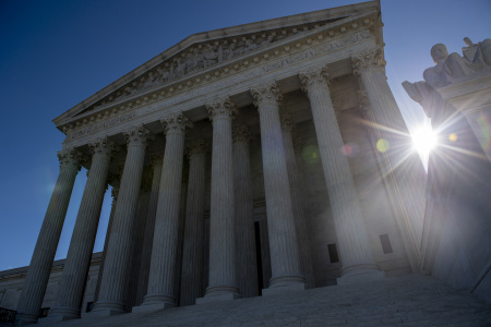 The United states Supreme Court is seen on April 15, 2019 in Washington DC