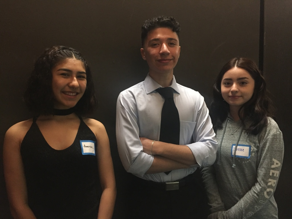 Eleventh graders America Camacho, Dexter Flores, and Denisse Berganza wrote the finale of the showcase, a series of lines and songs about the Roaring Twenties.
