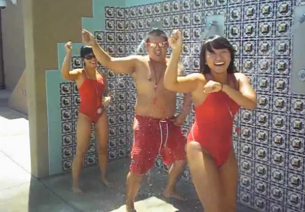 A screenshot of El Monte lifeguards fired for appearing in their own version of K-pop star Psy's