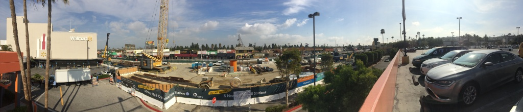 A view from the parking structure at the Baldwin Hills Crenshaw Plaza, January 2016.