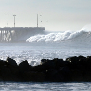 Large Swells Hit California Coast