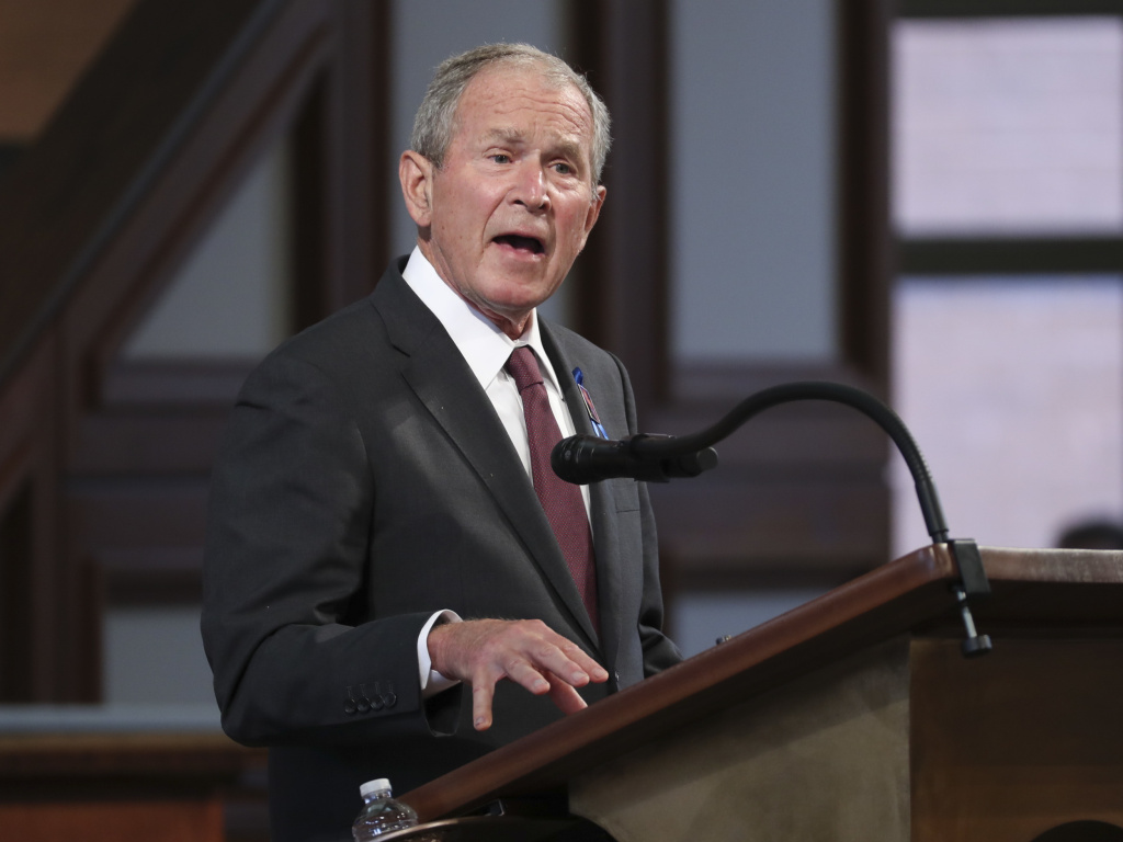 Former President George W. Bush said he was sickened and heartbroken at the
