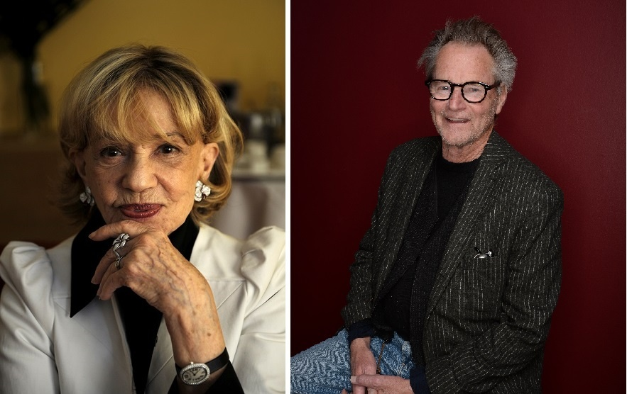 French actress Jeanne Moreau and actor/playwright Sam Shepard.