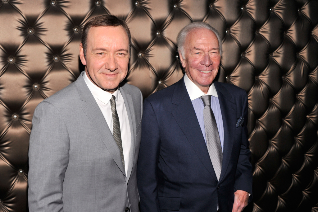 Christopher Plummer, right, will replace Kevin Spacey's character in Ridley Scott's