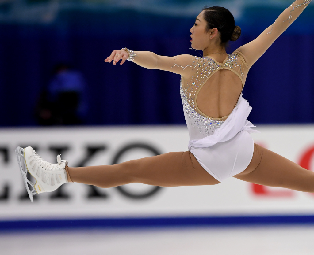Mirai Nagasu of the US performs during the women's singles free skating at the Grand Prix of Figure Skating 2016/2017 NHK Trophy in Sapporo on November 26, 2016.