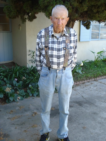 97-year-old Gordon Powers at his home in Garden Grove.