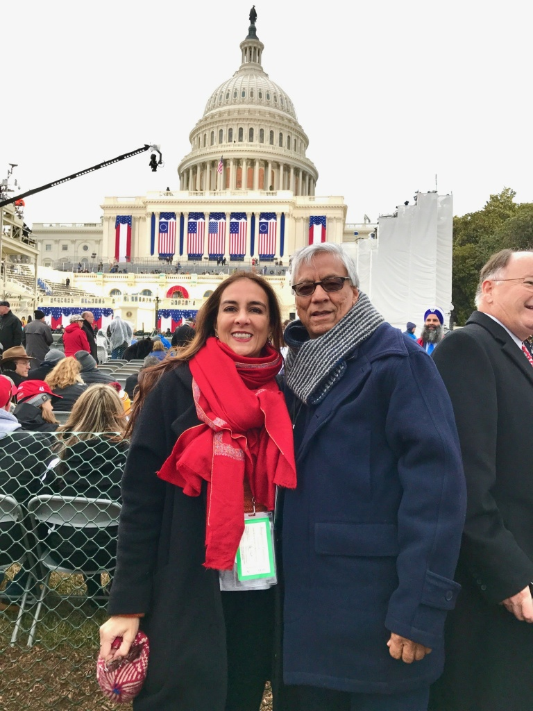 JANUARY 20, 2017 - Harmeet Dhillon, RNC National Committeewoman for California, and her husband Sarvjit Randhawa, in D.C. for the inauguration.