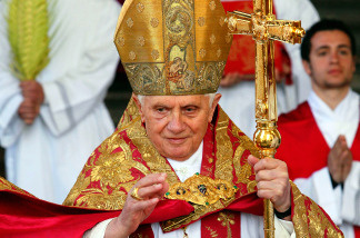 Pope Benedict XVI attends Palm Sunday Mass in Vatican City.