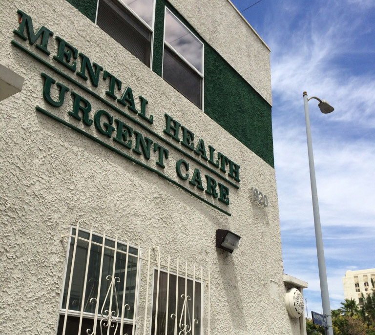 People come to this mental health urgent care center, across from County/USC hospital, with a range of mental health needs. Some need a refill of their psychiatric medications. Others have been placed on involuntary psychiatric holds and can remain here up to 23 hours.