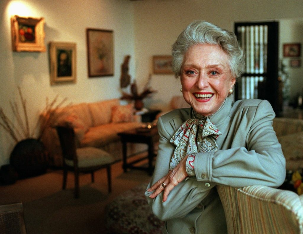 Actress Celeste Holm poses at a friends' home in Santa Monica, Calif., March 12, 1997.