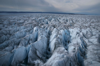 An aerial view of the Greenlandic Icecap, august 28, 2007 near Ilulissat, Greenland. Scientists believe that Greenland, with its melting ice caps and disappearing glaciers, is an accurate thermometer of global warming.