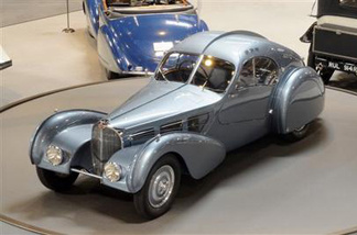 In this Monday Aug.2,2010 photo released by The Mullin Automotive Museum showing 1936 Bugatti Type 57SC Atlantic , one of only three ever made and went on display Tuesday at the Mullin Automotive Museum in Oxnard.