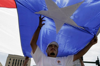 In 2006, Houston was among many cities participating in the nationwide National Day of Action for Immigration Justice rallies. When George W. Bush was governor, he adopted a Hispanic-friendly strategy that helped propel him to the White House. Now, some Texas Republicans are taking a harder stance.