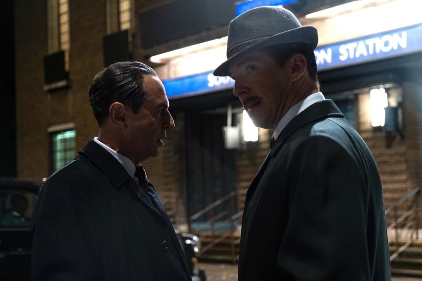 "Merab Ninidze and Benedict Cumberbatch in ""The Courier"""