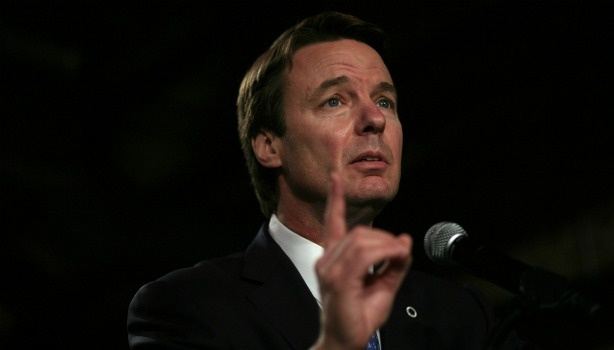 John Edwards on the campaign trail in 2008.