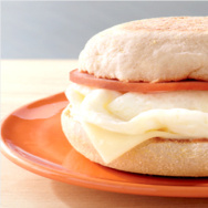 McDonald's new egg white breakfast sandwich.