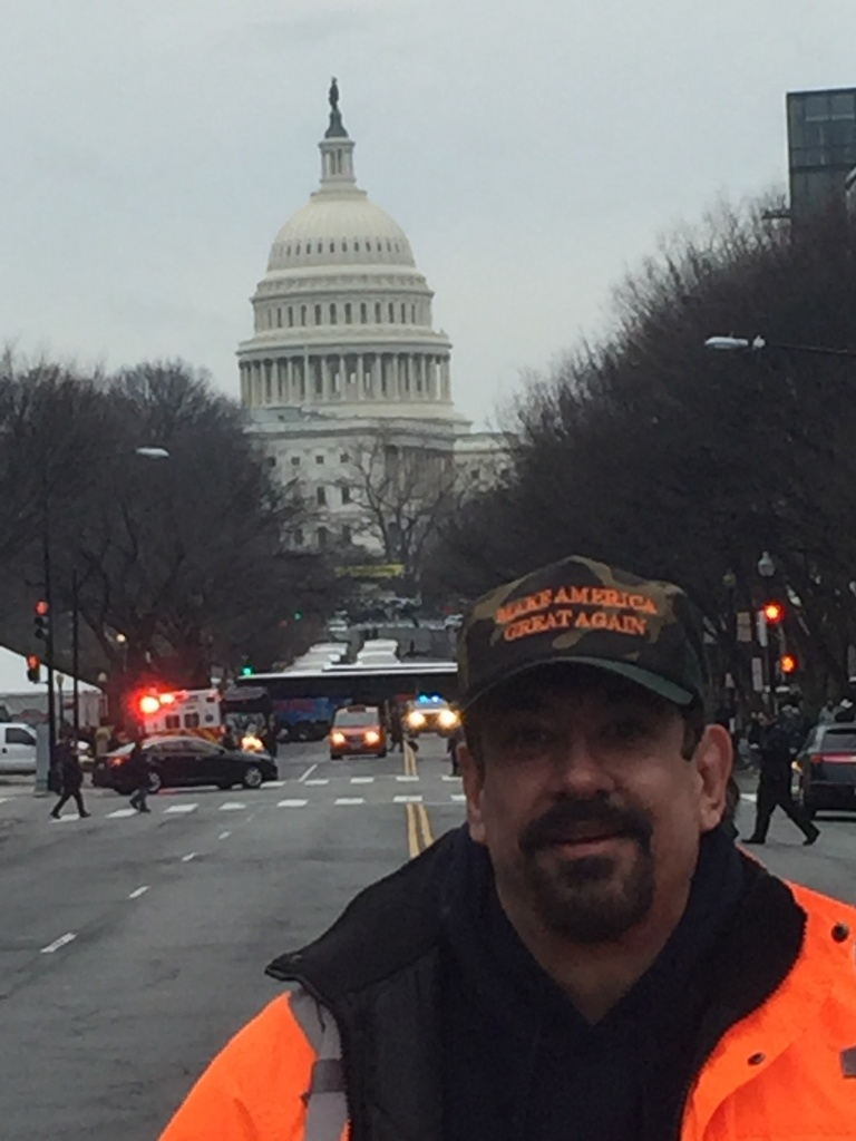JANUARY 20, 2017 - John Goya, former treasurer for the Los Angeles GOP and president of California Great Again Political Action Group, in D.C. for the inauguration.