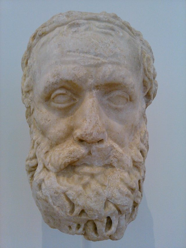 A bust of the Playwright Aeschylus, at the North Carolina Museum of Art