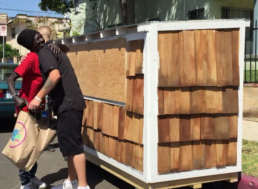 A video of Elvis Summers building an 8-foot-long wood house for a grandmother who's been living on the streets for a decade went viral.