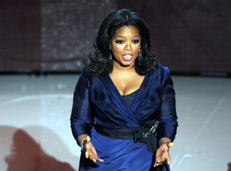 TV personality Oprah Winfrey introduces the award for Best Actress at the 82nd Academy Awards at the Kodak Theater in Hollywood, California on March 7, 2010.