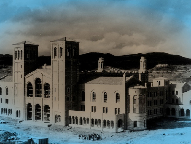 Image credit: Pictured above is Royce Hall under construction in 1928. This image comes from the UCLA Historic Photographs collection in the UCLA Library Special Collections, University Archives. All images for 10 Questions were sourced in collaboration with the UCLA Library Special Collections.
