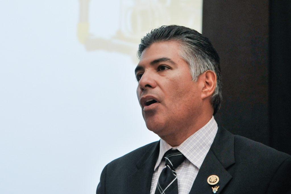 File: Rep. Tony Cardenas (D-CA) speaks during a screening of