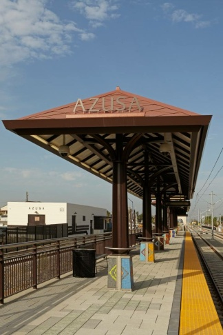 The Azusa Downtown Station is part of the Foothill Gold Line extension.