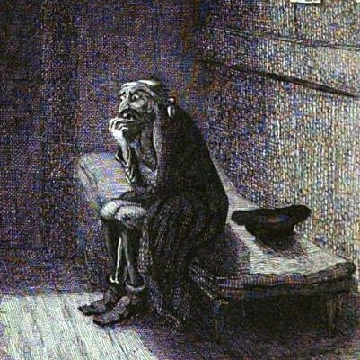 Early illustration of Fagin from Dickens'