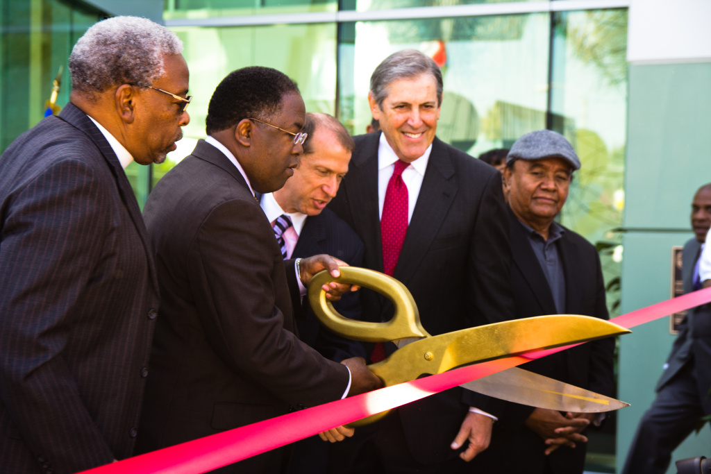 Los Angeles County Supervisor Mark Ridley Thomas opens the new Martine Luther King, Jr. Center for Public Health in South L.A. on Friday, October 7, 2011