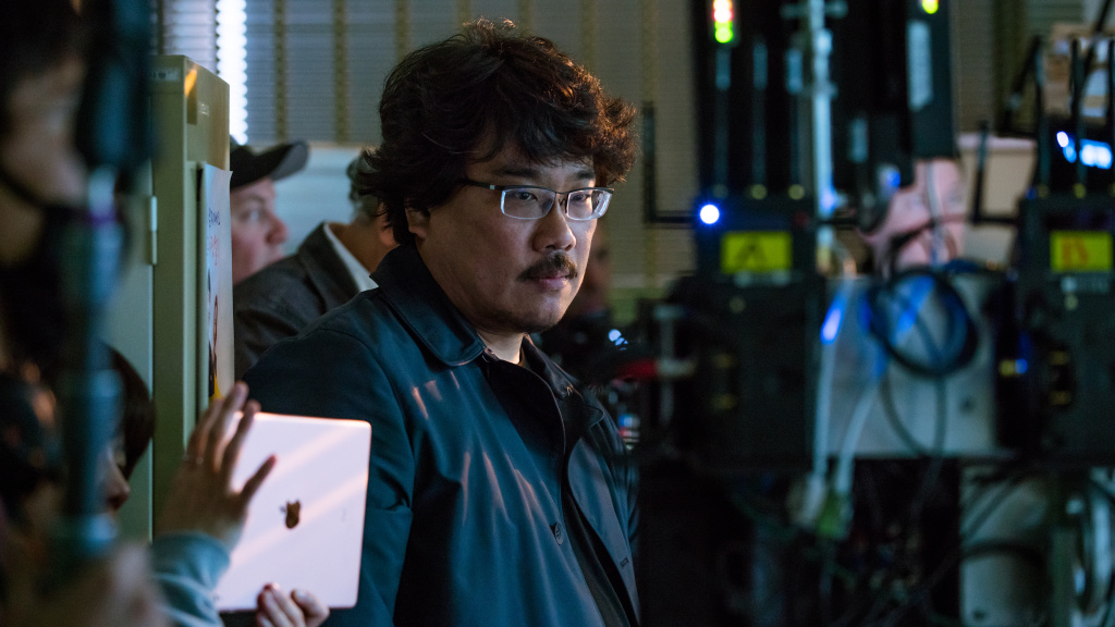 Director Bong Joon-Ho behind the scenes in
