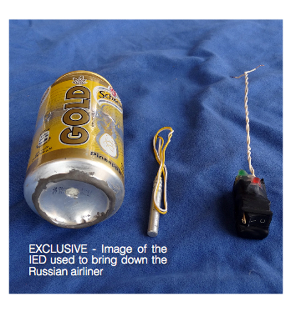 Image published in the Islamic State's English-language magazine Dabiq on Nov. 18, 2015, claims to show the bomb that was used to blow up a Metrojet passenger plane bound for St. Petersburg, Russia, that crashed in Hassana, north Sinai, Egypt, killing all 224 people on board.
