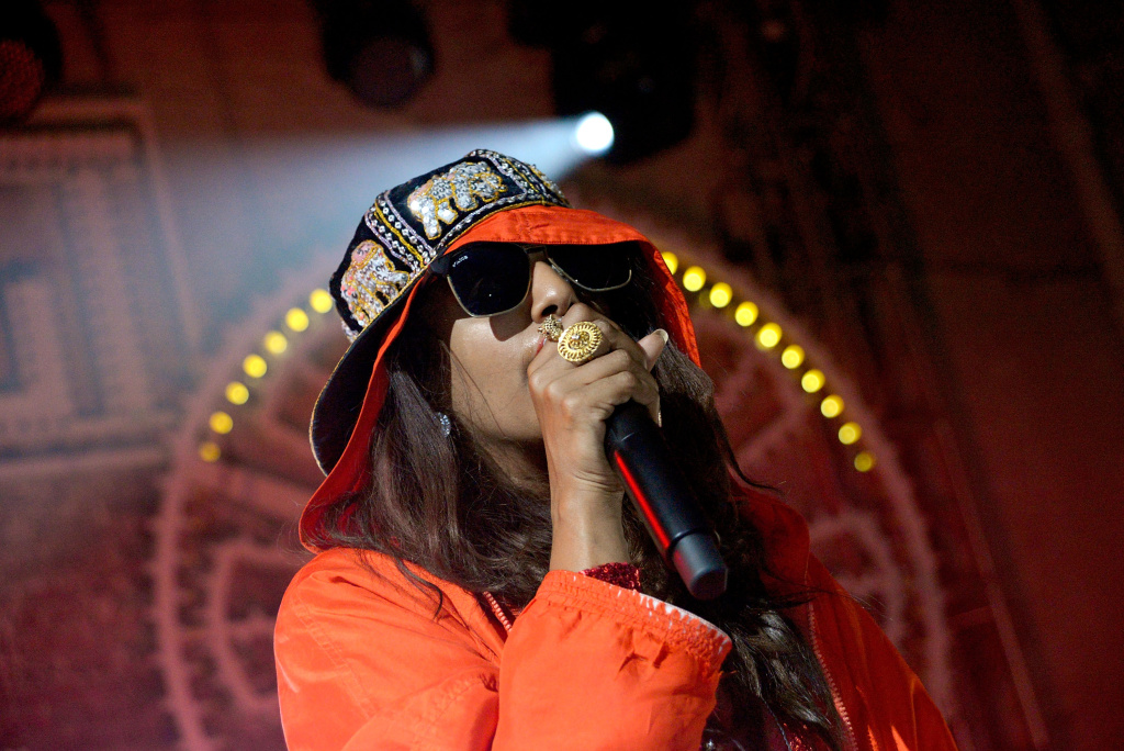 M.I.A. performs at the Soho House Satellite Nights series with M.I.A. on November 5, 2013 in Brooklyn City.