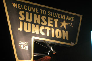 Sunset Junction sign in Silver Lake