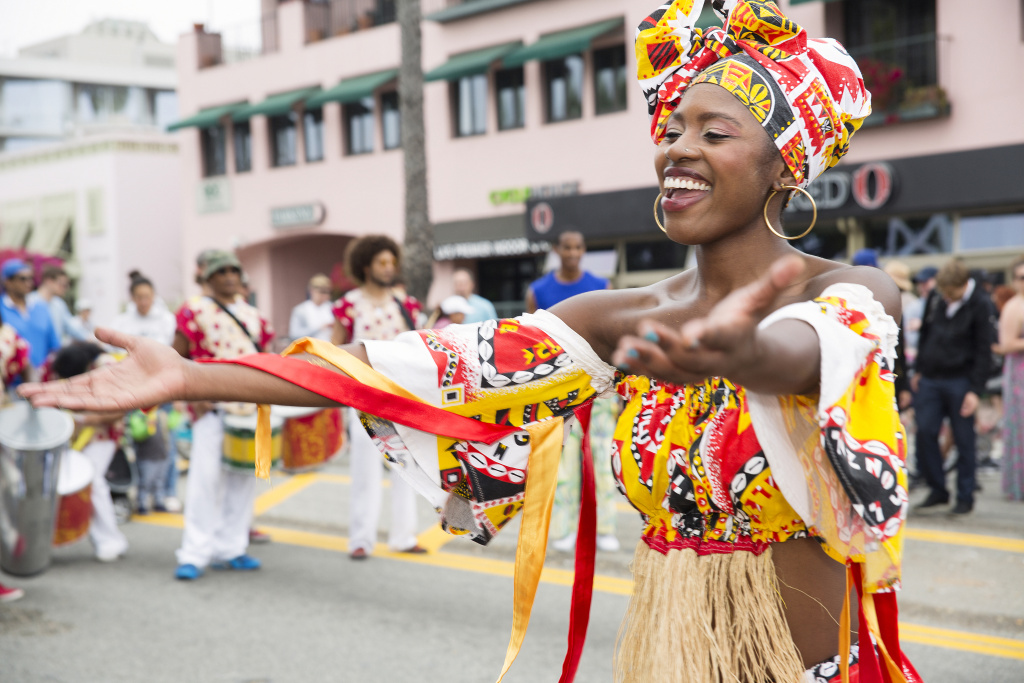 Santa Monica is closing some main streets Sunday for a block party featuring cultural performances.