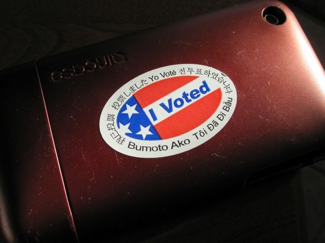 A perfectly good place to put my voter sticker, November 2, 2010