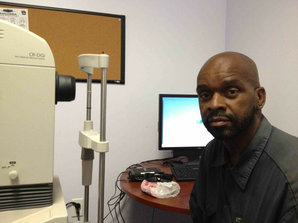 Ivory Corothers is a diabetic patient who gets retinal scans taken at St. John's Well Child and Family Center in South Los Angeles. Clinic workers send those scans to a specialist in Northern California, who evaluates whether Corothers will need further treatment.