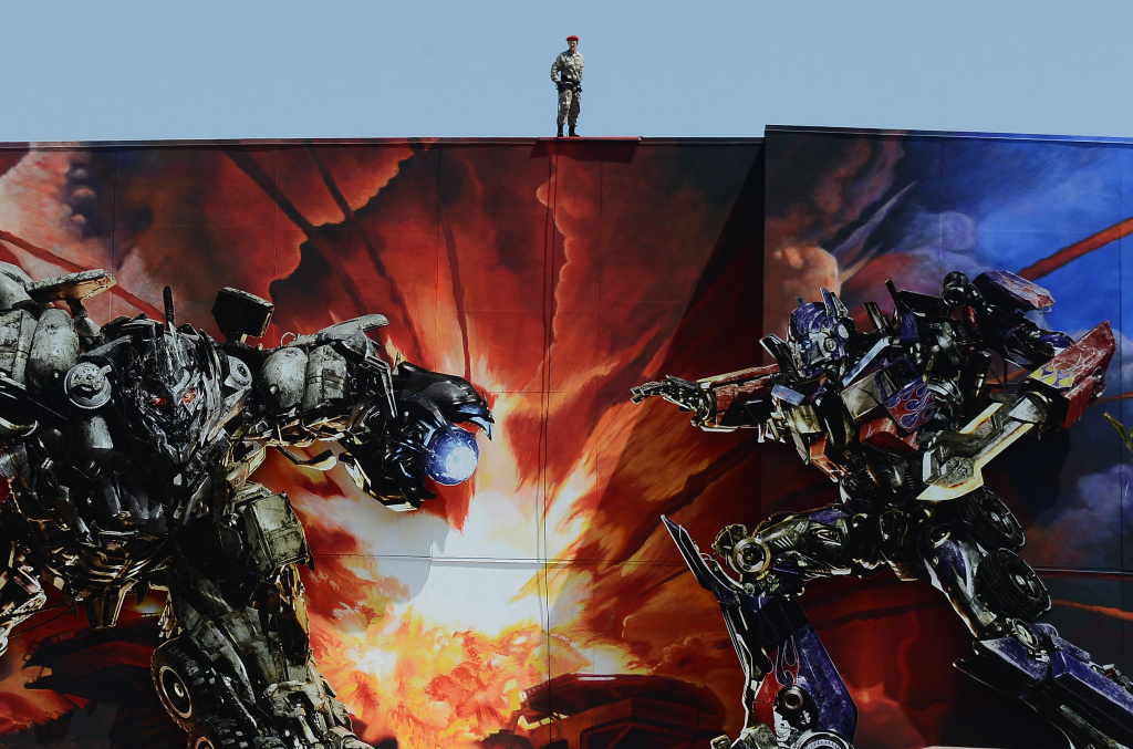 Opening program of the opening of Universal Studios 'Transformers: The Ride-3D' at Universal Studios Hollywood on May 24, 2012 in Universal City, California. On Monday, 10 people were stuck when the ride stalled.