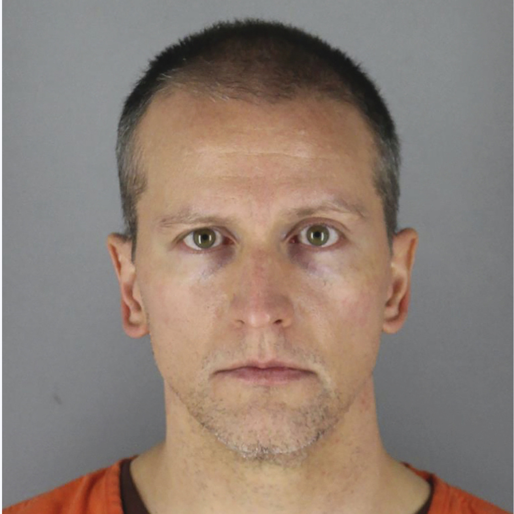 A photo provided by the Hennepin County Sheriff shows former Minneapolis police officer Derek Chauvin, who was arrested on May 29, in connection with the death of George Floyd.