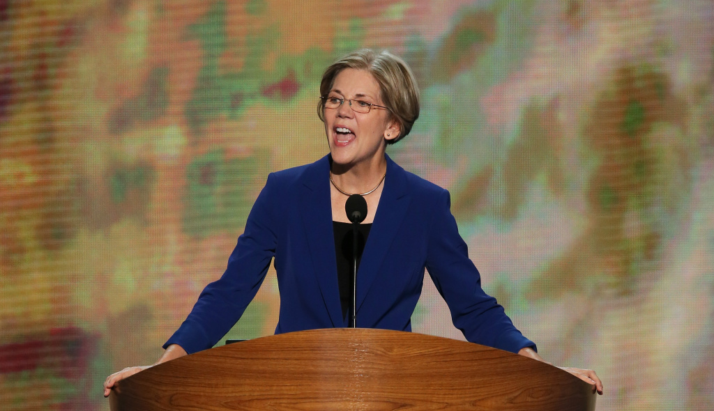 Elizabeth Warren speaks during day two of the Democratic National Convention at Time Warner Cable Arena on September 5, 2012 in Charlotte, North Carolina.