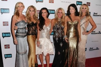 Cast members Camille Grammer, Adrienne Maloof, Kyle Richards, Kim Richards, Lisa Vanderpump and Taylor Armstrong arrive at Bravo's 'The Real Housewives of Beverly Hills' series party
